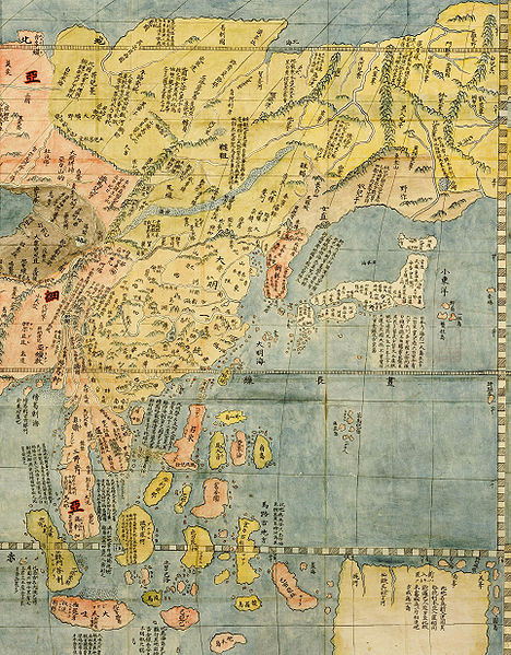 Map of the Far East in 1602, by Jesuit missionary Fr. Matteo Ricci.