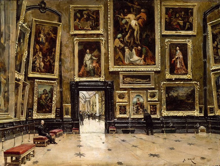 Louvre musuem by Alexandre Brun