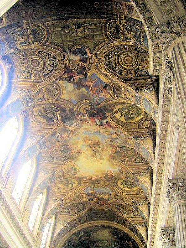 Ceiling of the Royal Chapel, Palace of Versailles, France