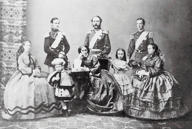 King Christian IX of Denmark, Queen Louise of Hesse-Kassel and the Royal Family.