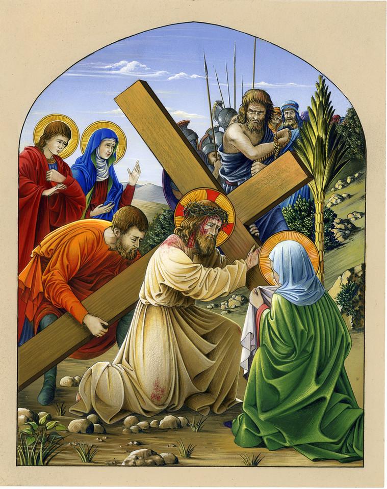 Jesus carrys the Cross