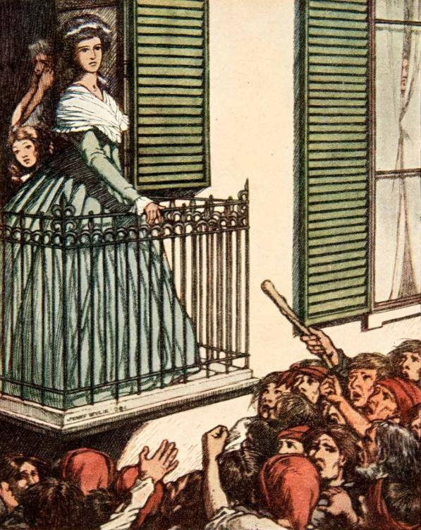 Marie Antoinette on the balcony