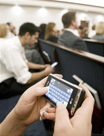 Texting in Church