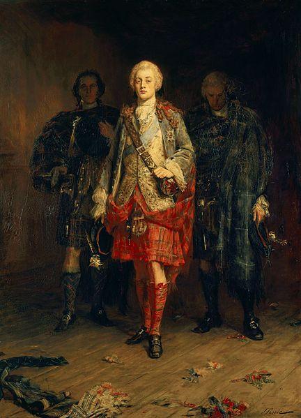 Charles Edward Stuart, Bonnie Prince Charlie painted by John Pettie.