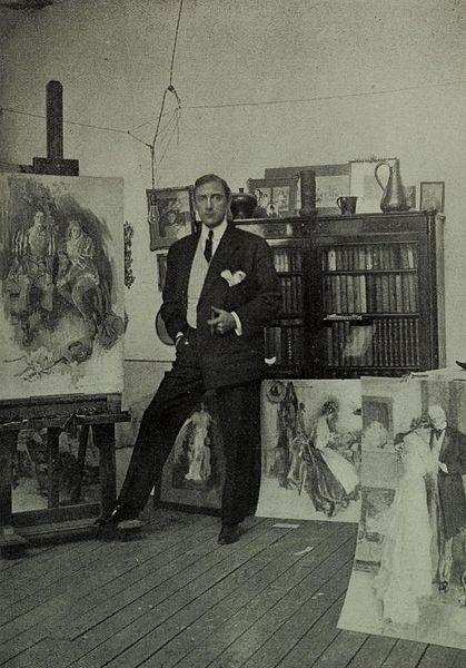 Howard Chandler Christy in his Studio.
