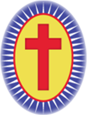 The  the emblem of Camillians, Order of Regular Clerics Ministers to the Sick.