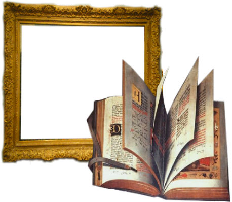 frame and book