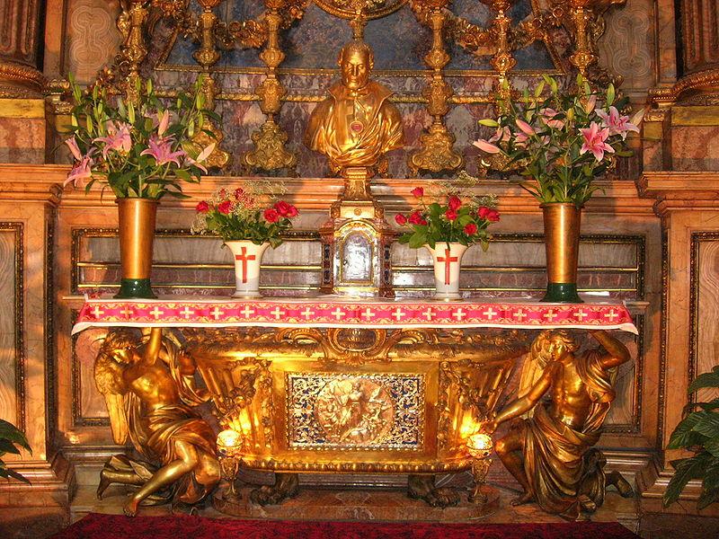 The tomb of St. Camillus in Santa Maria Magdalena, Rome.