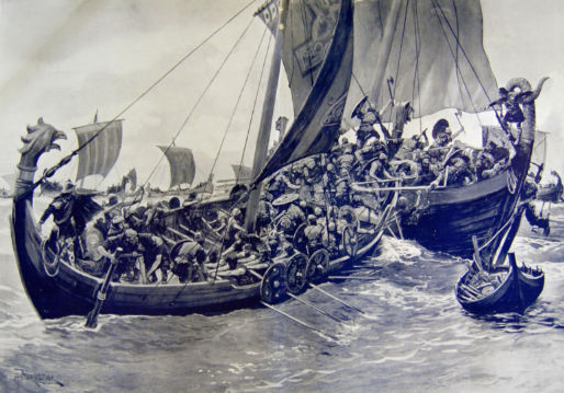 King Alfred's first sea battle off the Dorset coast.