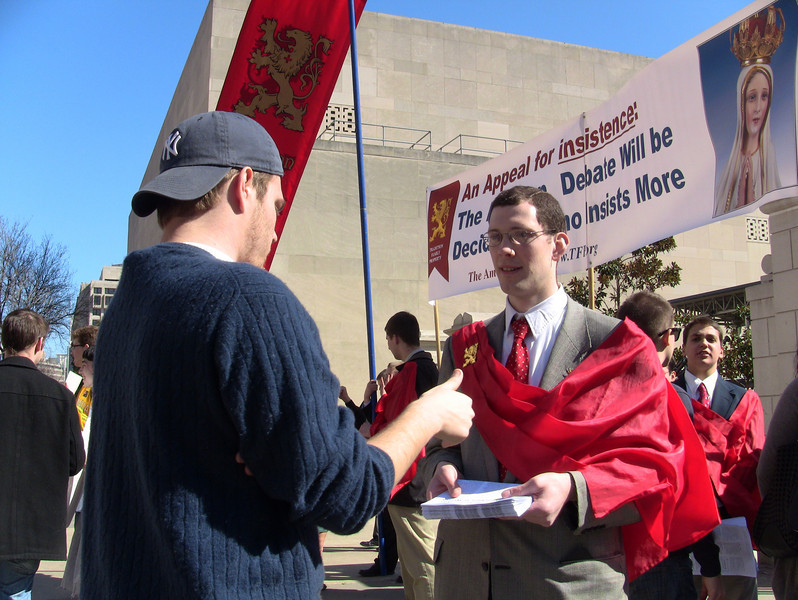 One of the many TFP campaigns on various University and College campus's across the country.