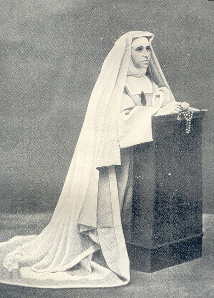 The Marie Reparatrici order of nuns was founded by Blessed Émilie d'Oultremont de Warfusée (1818-1878).