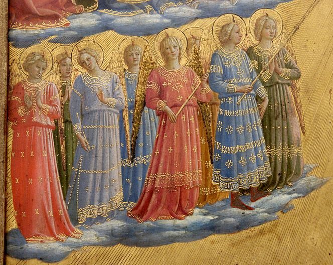 The Archangels, part of the Last Judgement painting by Blessed Fra Angelico.