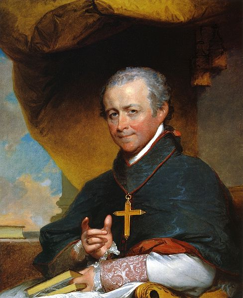 Bishop (and later Cardinal) Jean-Louis Anne Madelain Lefebvre de Cheverus. Painting by Gilbert Stuart, 1823. Museum of Fine Arts, Boston.