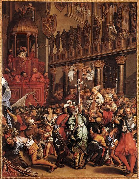 Doge Enrico Dandolo Recruiting for the Fourth Crusade. Painting by Jean LeClerc.