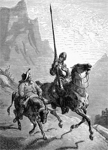 Don Quijote and Sancho Panza by Gustave Doré.