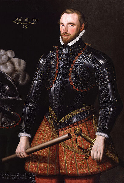Sir Richard Grenville, an anti-Catholic officer, who was arrested St. Cuthbert.