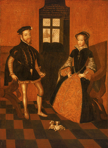 Portrait of King Felipe II of Spain and his spouse Queen Maria I of England