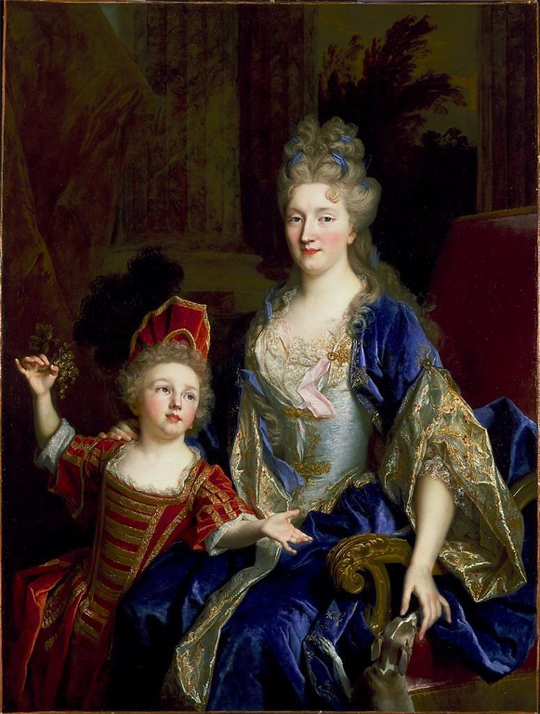 Portrait of Catherine Coustard, Marquise de Castelnau, Wife of Charles-Leonor Aubry, with Her Son Leonor by Nicolas de Largillière