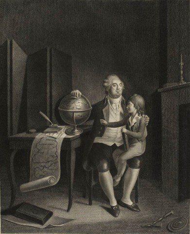 Louis XVI with the Dauphin. départemental de l'Isère
